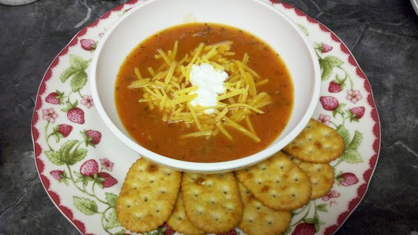 Ladle the soup into bowls. Let the kids put on their own toppings. My...