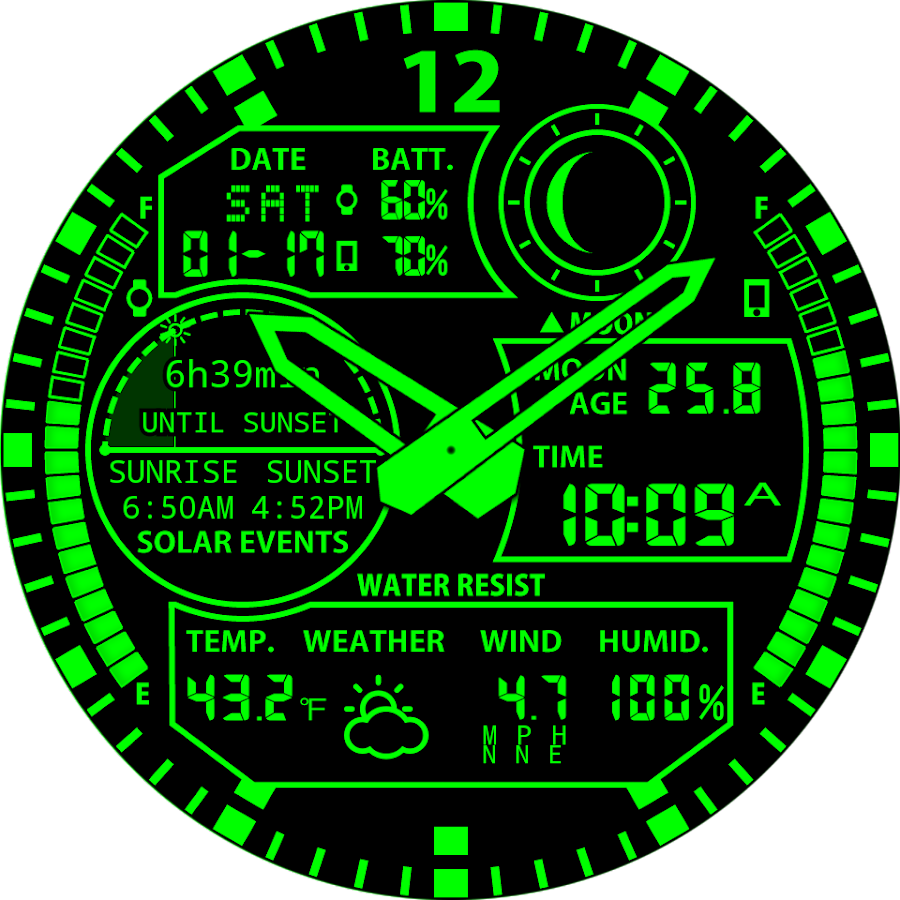 A48 WatchFace for Round Wear- screenshot