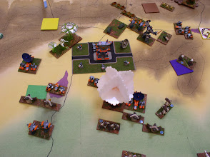 Photo: An above view look at the Nukes and GUARD forces holding off the remaining Molemen.  Unfortunately the Martian Menace has also arrived, and attacks the GUARD Stronghold.