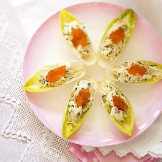 Wasabi Crab Salad Cups.
