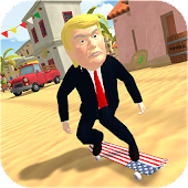 Trump Mexico Skate - President Donald Games