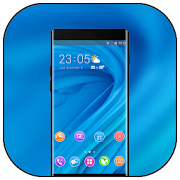 Theme for Elephone A4 Pro blue bright wallpaper icon
