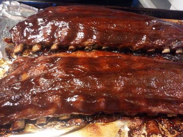 This Is What The Ribs Looked Like Onced They Were Cooked. They Were Very Tender And Moist.