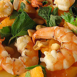 Shrimp, Melon and Mango Salad