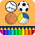 Sports Coloring Game icon