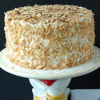 Coconut Almond Cream Cake.