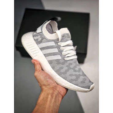 Adidas NMD R2 Primeknit (Grey/Black/Pink)