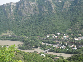 Photo: MCXETA VIEW   (MCXETA IS OF GEORGIAN OLD CAPITAL)