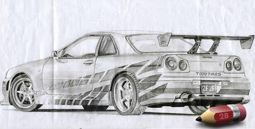 Sketch Cars Fast Furious