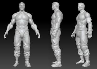 Photo: Human male model, work in progress.