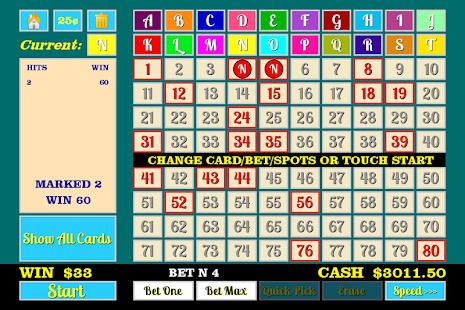 Free multi card keno games