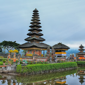 Balinese floating temple in Bali by Wira Suryawan - Buildings & Architecture Places of Worship