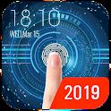 Space fingerprint style lock screen for prank icon