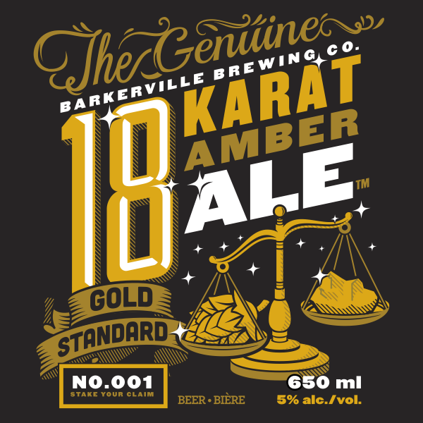 Logo of Barkerville Brewing Co. 18 Karat Ale