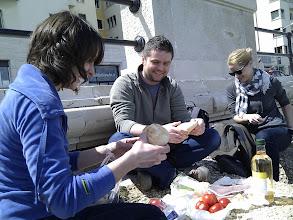 Photo: breakfast in Bari vagabond style - served fresh mozarella di buffalo!