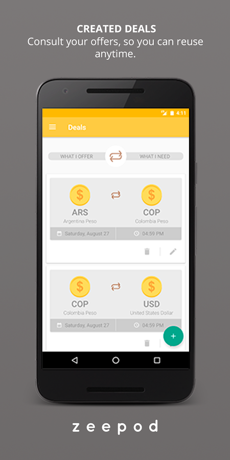 Zeepod - Exchange Money- screenshot
