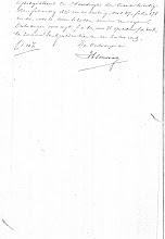 Photo: Regionaal Archief Leiden, Notarieel Archief Noordwijk, Inv. Nr. 19, notaris Cornelis Catharinus van der Schalk, akte 28, blad 39, dd. 21-02-1861 (bijlage dd. 03-12-1860)  Boedelscheiding van de boedel van Job Duivenvoorden, overleden te Noordwijk op Langeveld, laatst echtgenoot van Hendrina van der Klugt.