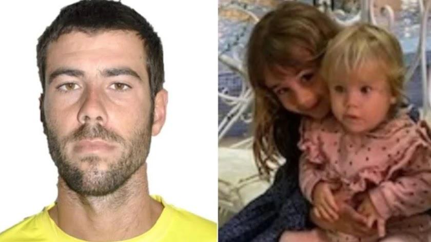Imagen del padre y de las dos hijas distribuida para su localización.