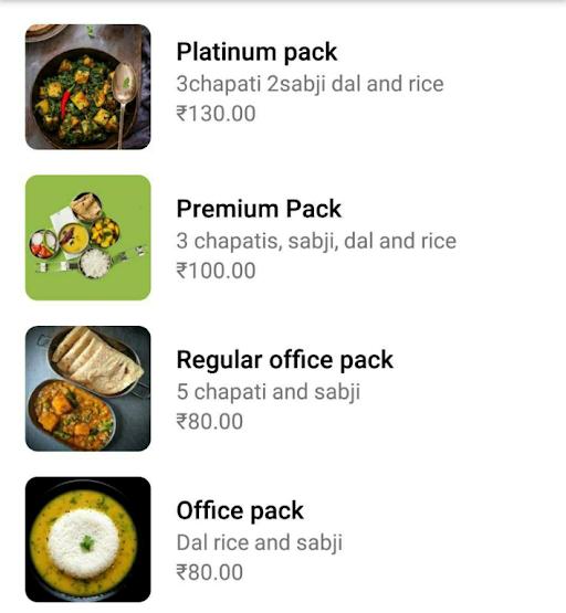 Bhojanyan menu 1