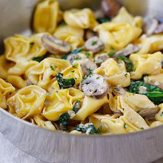Creamy Mushroom Tortellini
