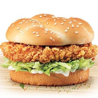 KFC Zinger Burger Copycat.