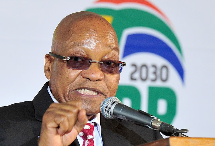President Jacob Zuma addressing the 2017 National Youth Day commemoration held in Tshing Sports Ground, Ventersdorp in the North West. Picture: GCIS