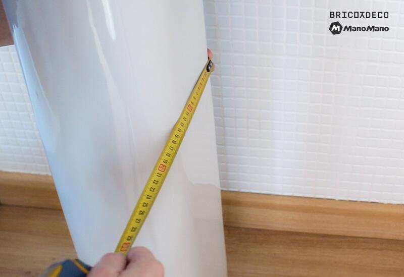 medir el pedestal del lavabo
