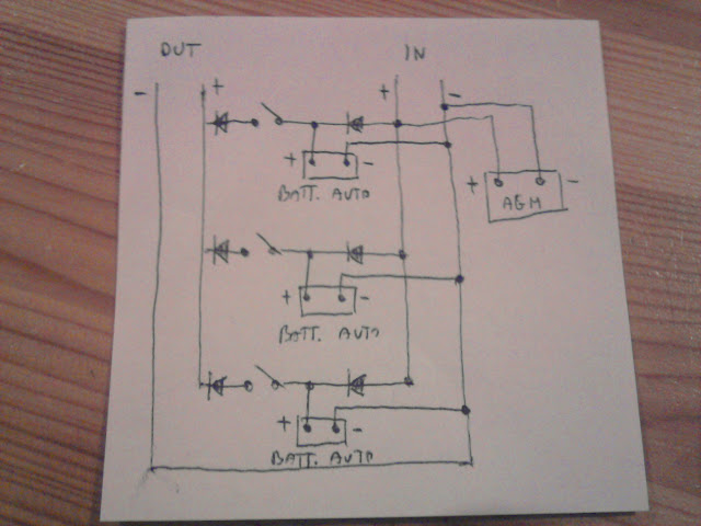 Schema Collegamento Batteria Tampone : Grosso risparmio batterie in parallelo diodi schottky