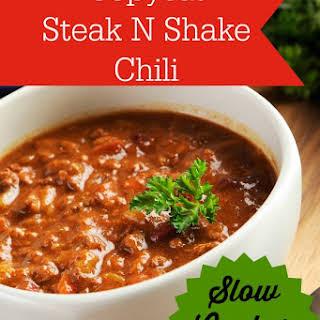 Copycat Steak N Shake Chili.
