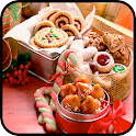 Christmas food gifts recipes icon