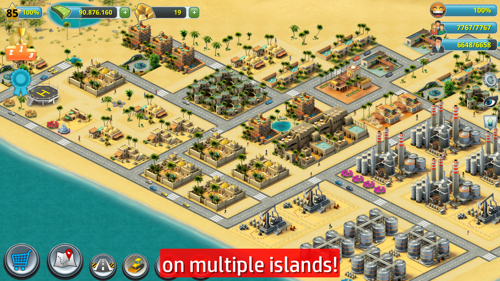 City island 3 building sim little to a big town for Building builder online