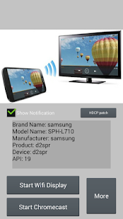 Wifi Display (Miracast) Screenshot