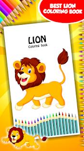 Lva omalovánky k vytisknutí - náhled