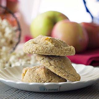 Salted Caramel Apple Popcorn Cookies