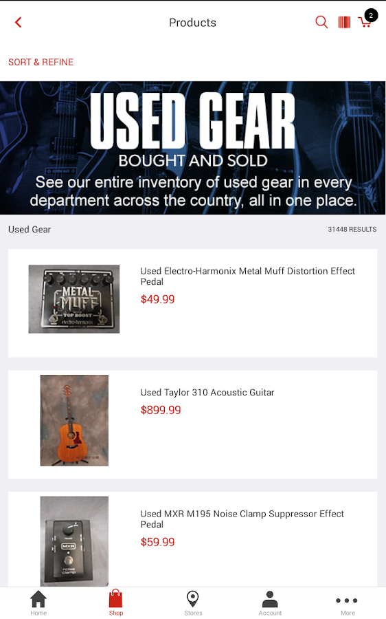 Guitar Center: Shop Music Gear- screenshot