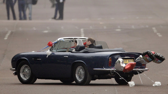 Bentley State Limousine Prince William and Catherine Royal Wedding Rolls Royce Phantom VI Aston Martin DB6