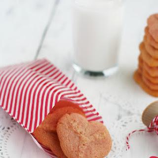 Vegan Valentine Heart Spritz Cookies..