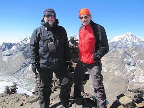 Photo: Pico oder Cerro Austria; Gipfelfoto 5328 m
