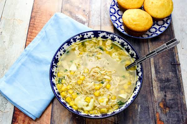 Pa Dutch Chicken Corn Soup In A Bowl.