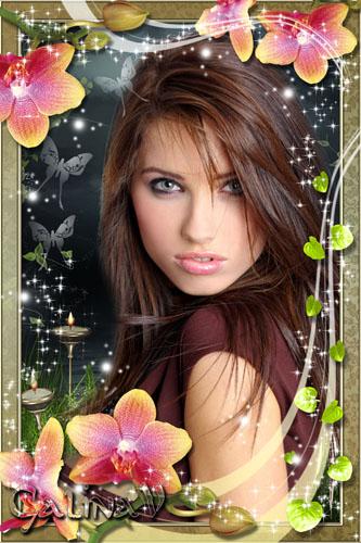 Рамка для фото - Сказочные орхидеи