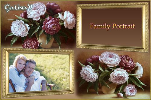 Рамка для 2-х фото - Семейный портрет