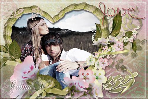Романтическая фоторамка - Нежная любовь