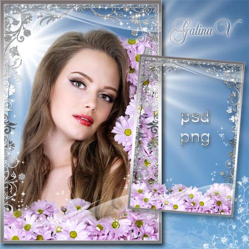 Рамка для фото - Весна цветёт и дарит аромат цветов