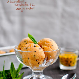 Passionfruit & Orange Sorbet