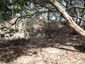 900m付近に石が積まれた跡?
