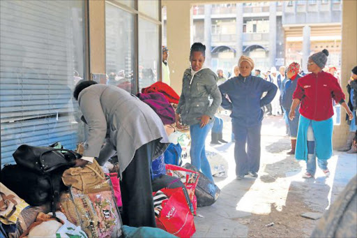 WANT TO WORK: More than 100 unemployed nurses camped outside the provincial health offices in Bhisho last week demanding to be employed permanently Picture: SIBONGILE NGALWA