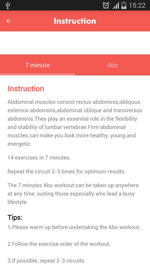 Abs Workout 7 Minutes Screenshot