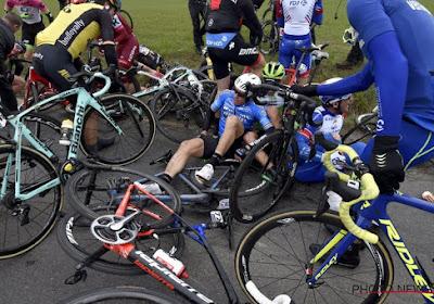 ? Enorme crash ontsiert E3 Harelbeke, Quick-Step en Lotto trekken door