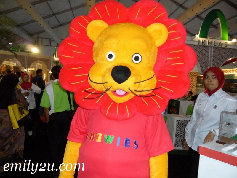 Chewies lion mascot