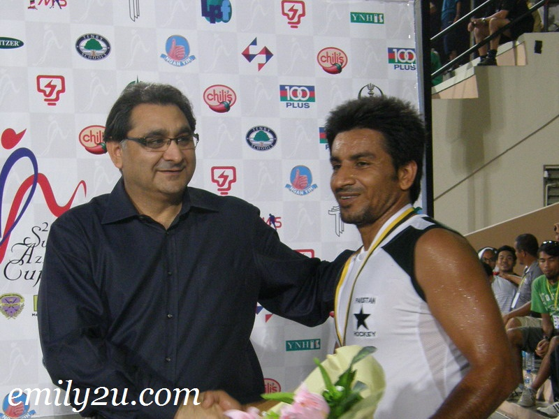 Player of the Match Waseem Ahmed
